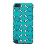 Turquoise Heart and Crossbones Pattern