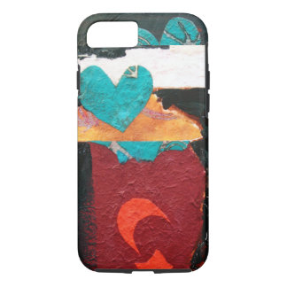 """""""Turquoise Heart"""" iPhone 8/7 Case"""