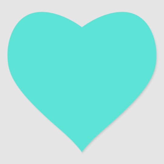 Turquoise Heart Sticker