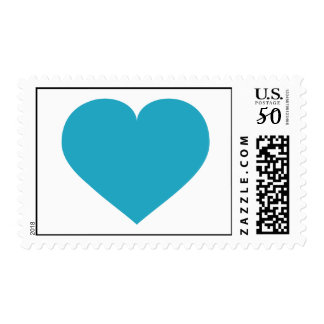 Turquoise heart - turquoise love postage