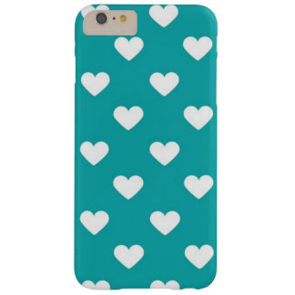 turquoise hearts iPhone 6/6s plus case