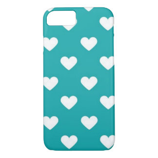 turquoise hearts iPhone 7 case