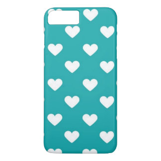 turquoise hearts iPhone 7 plus case