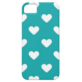 turquoise hearts iPhone SE/5/5s case