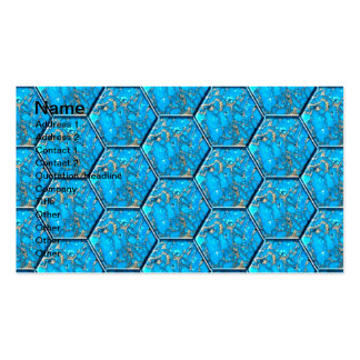 Turquoise Hexagon Tiles Double-Sided Standard Business Cards (Pack Of 100)