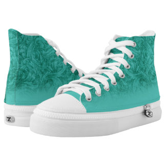 Turquoise High-Top Sneakers