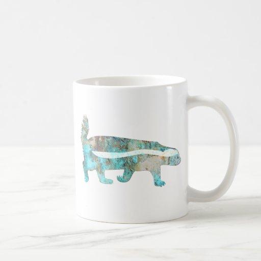 Turquoise Honey Badger Classic White Coffee Mug