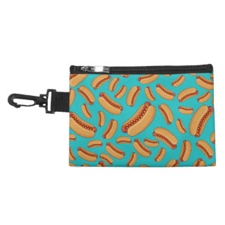Turquoise hotdogs accessory bag