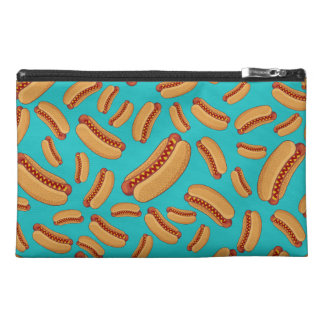 Turquoise hotdogs travel accessory bag