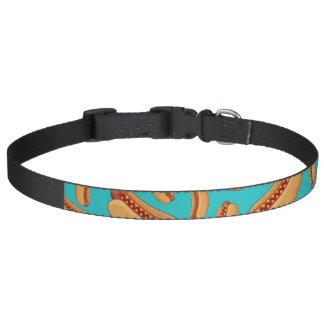 Turquoise hotdogs pet collar