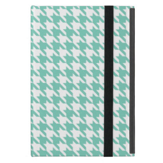 Turquoise Houndstooth iPad Mini Cover
