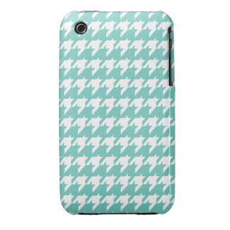 Turquoise  houndstooth iPhone 3 cover