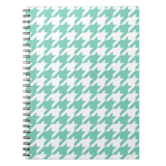 Turquoise Houndstooth Notepad Spiral Notebook