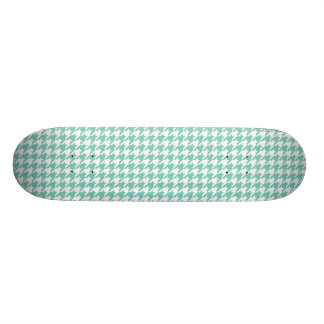 Turquoise Houndstooth Skateboard Deck