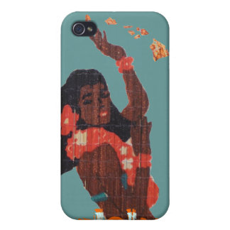 Turquoise Hula Dancer Aloha by Hawaii Map iPhone 4 Cover