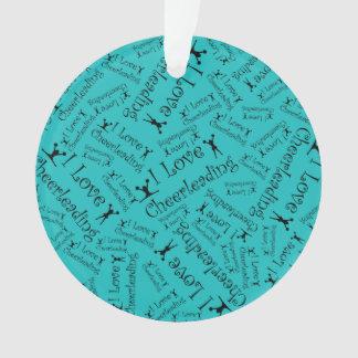 Turquoise I love cheerleading Ornament