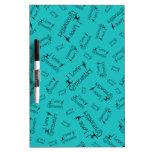 Turquoise I love gymnastics Dry-Erase Board