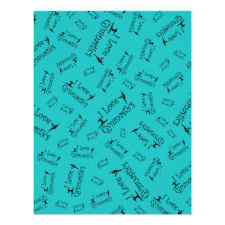 Turquoise I love gymnastics Flyers