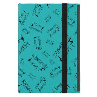 Turquoise I love gymnastics iPad Mini Case