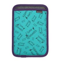 Turquoise I love gymnastics Sleeve For iPad Mini