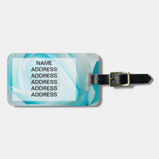 Turquoise Ice Rose Bag Tag