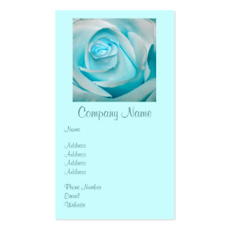 Turquoise Ice Rose Double-Sided Standard Business Cards (Pack Of 100)