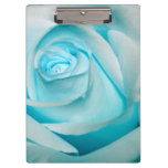 Turquoise Ice Rose Clipboard