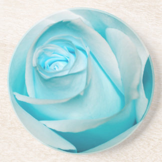 Turquoise Ice Rose Drink Coaster