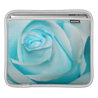 Turquoise Ice Rose iPad Sleeve