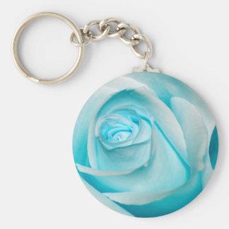 Turquoise Ice Rose Keychain