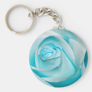 Turquoise Ice Rose Keychains