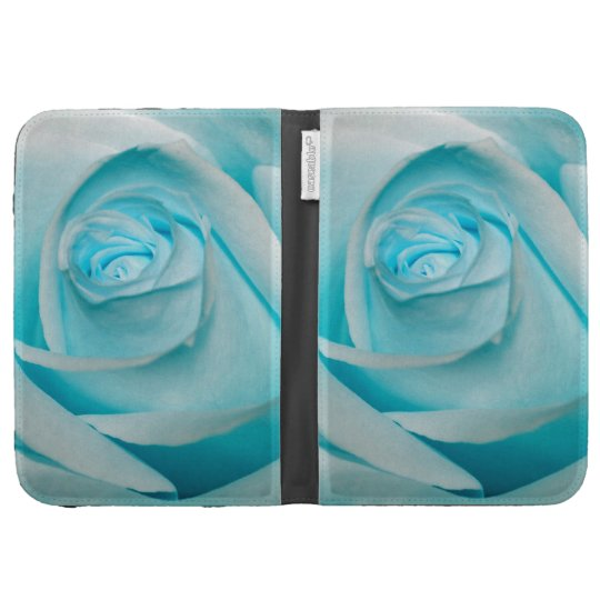 Turquoise Ice Rose Kindle Cover