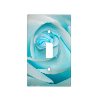 Turquoise Ice Rose Light Switch Covers