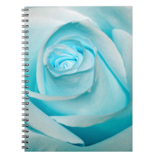 Turquoise Ice Rose Notebook