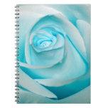 Turquoise Ice Rose Notebooks