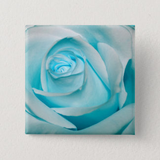 Turquoise Ice Rose Pinback Button