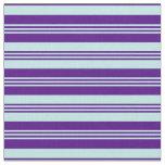 [ Thumbnail: Turquoise & Indigo Colored Lines Fabric ]