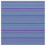 [ Thumbnail: Turquoise & Indigo Colored Lines Pattern Fabric ]