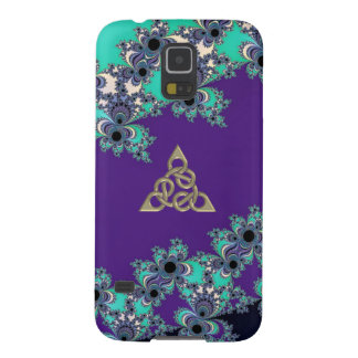 Turquoise Indigo Fractal Celtic Figure 8 Knot Case For Galaxy S5