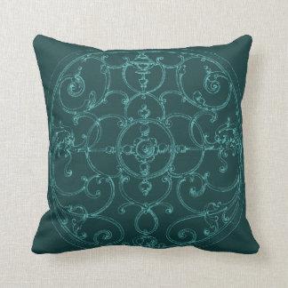 Turquoise Iron Medallion Pillow Series