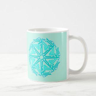 Turquoise Islamic Decoration Mug
