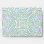 Turquoise Kaleidoscope Fractal Art Envelope