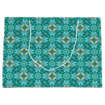 Turquoise Kaleidoscope Pattern Gift Bag