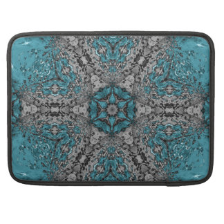 Turquoise Kaleidoscope Rain Sleeve For MacBook Pro