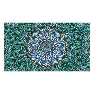 Turquoise Kaleidoscopic Mosaic Reflections Design Business Card