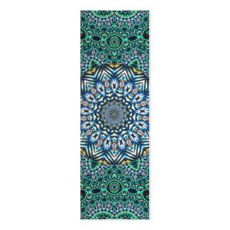 Turquoise Kaleidoscopic Mosaic Reflections Design Mini Business Card