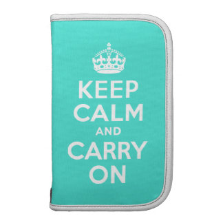 Turquoise Keep Calm and Carry On Planner