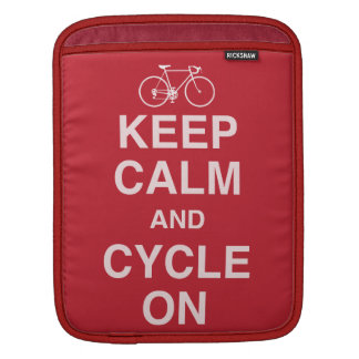 Turquoise  keep calm cycle iPad case