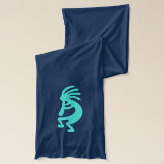 Turquoise Kokopelli Scarf