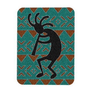Turquoise Kokopelli Southwestern Design Magnet